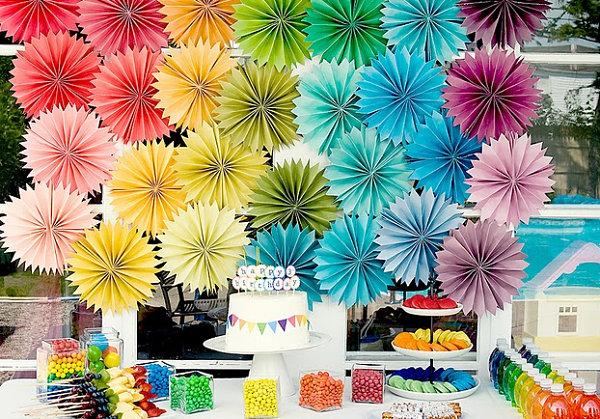 Rainbow party motif