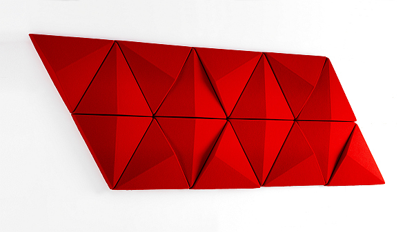 Red Bits Wall - sound absorber panel