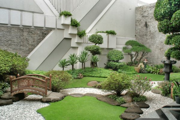 oriental garden design ideas.  Refreshing little garden borrowing heavily from the Japanese motif 28 Garden Design Ideas to Style up Your Backyard
