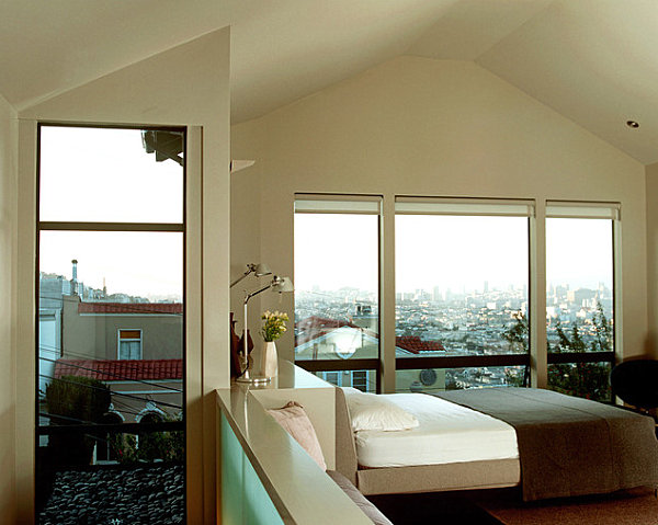 San Francisco bedroom with a rooftop view