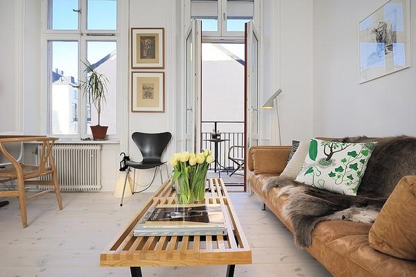 Scandinavian apartment living room