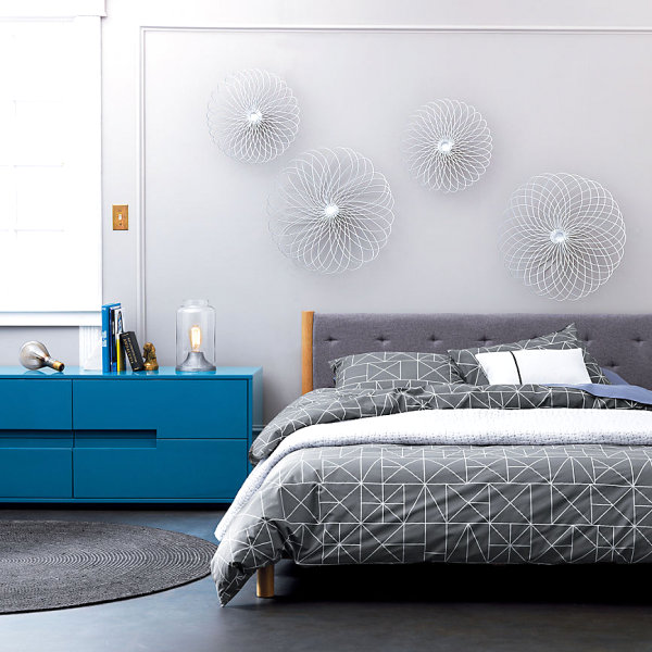 Shiny blue dresser