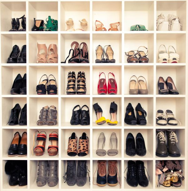 Shoes, shoes, and more shoes. This is the perfect design for your entire shoe collection.