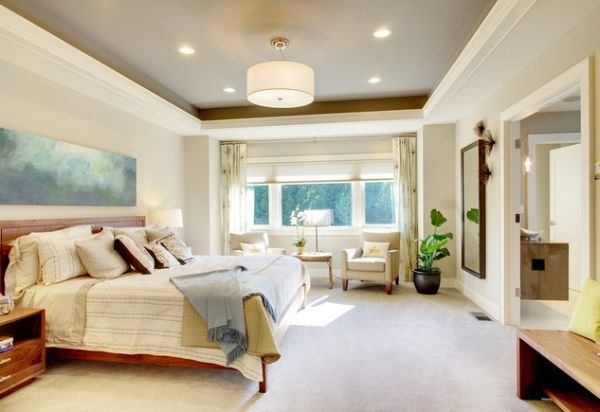 view in gallery simple and stylish tray ceiling design is perfect for every contemporary home - Home Ceilings Designs
