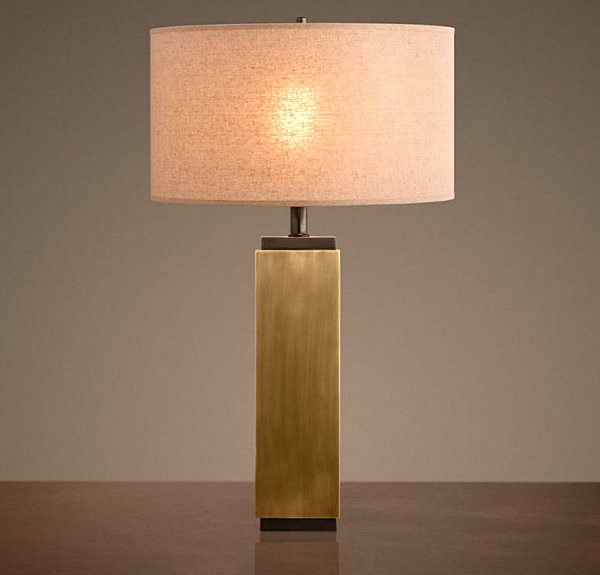 Brass is back 12 brass decor pieces to love in 2013 view in gallery square brass table lamp mozeypictures Images