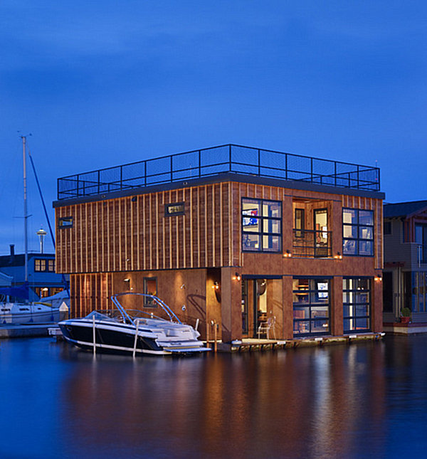 Stunning Seattle houseboat Stunning Houseboats for Aquatic Living