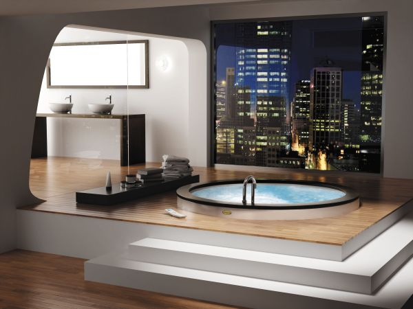 View In Gallery Stylish Contemporary Jacuzzi Steals The Show Here