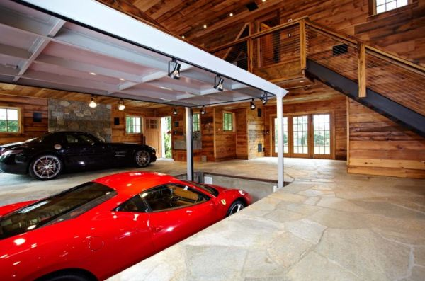 Car Garage Design Ideas Subterranean Parking With Automatic Elevators Create More Space