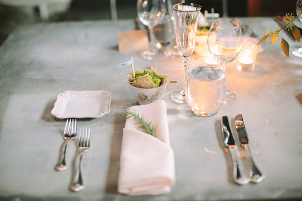 Table from an antique shop wedding
