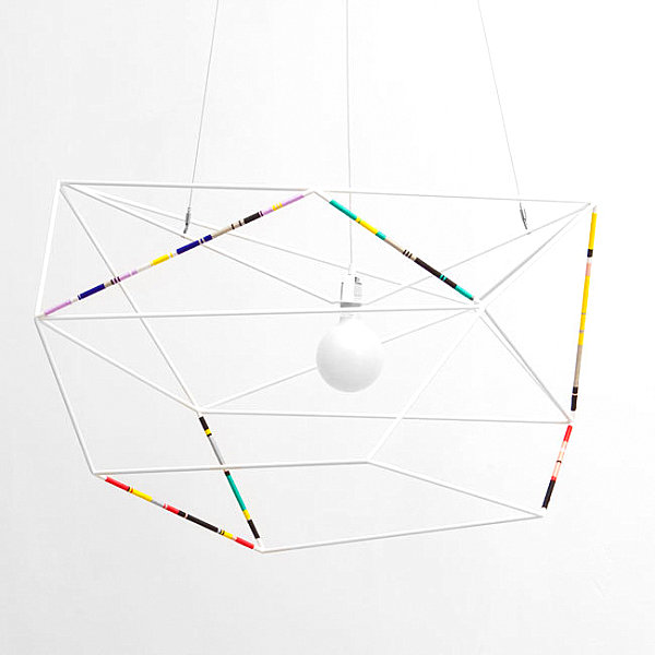 Threaded angular pendant light