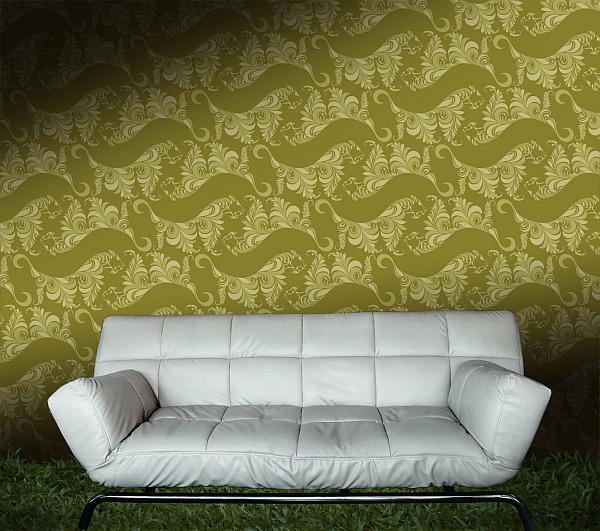 Tiger Lily wallpaper - Olive