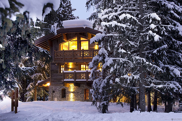 Traditional French Alps Chalet Romantic Winter Chalet in Courchevel Charms With Its Timeless Luxury
