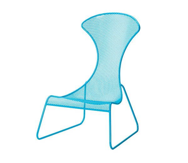Vibrant blue outdoor chair