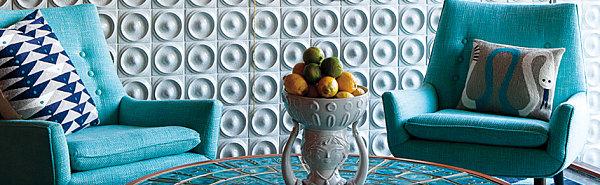 Vibrant upholstery from Jonathan Adler