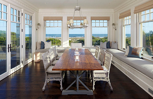 View on all sides in a charming dining room