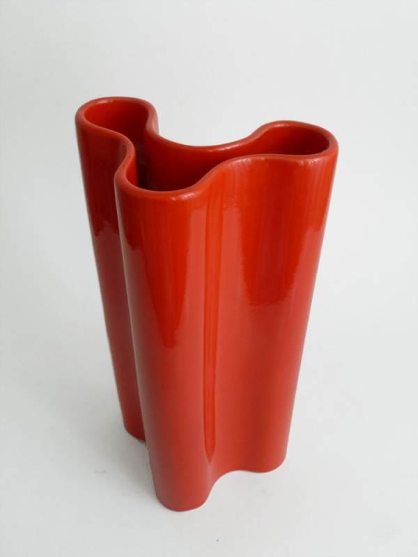 Vintage red vase