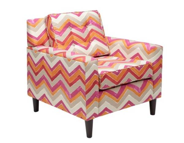 Vivid chevron chair