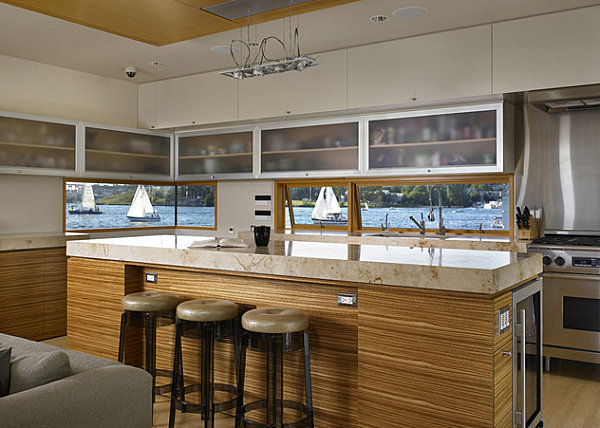 Floating house kitchen