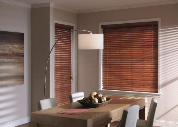 Wonderful way to add wooden shutters to your dining space