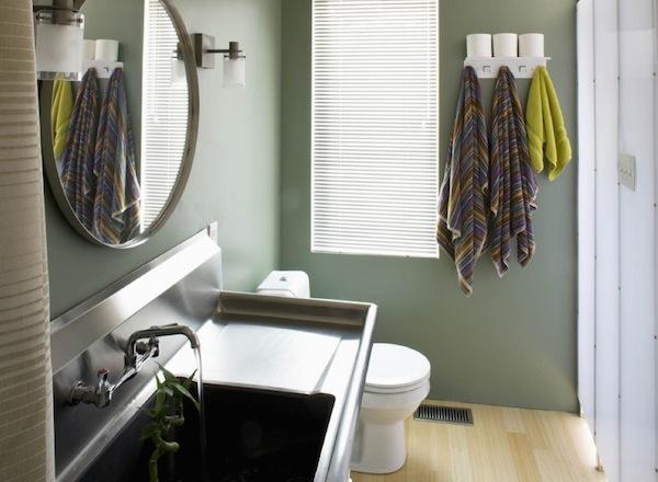 bathroom sink steel