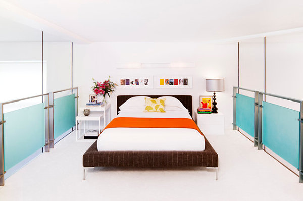 bed in a Chelsea loft