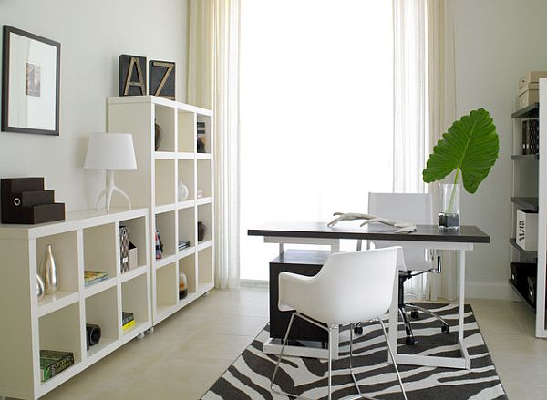 Bright home office with plenty of natural light