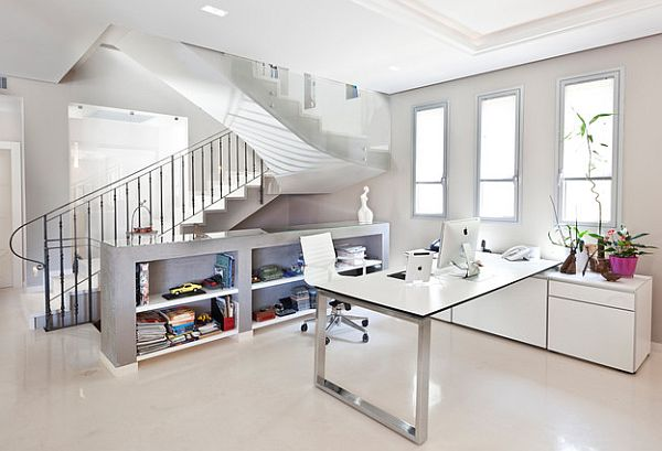 bright white home office