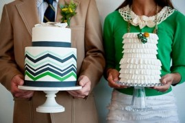 chevron wedding cake design