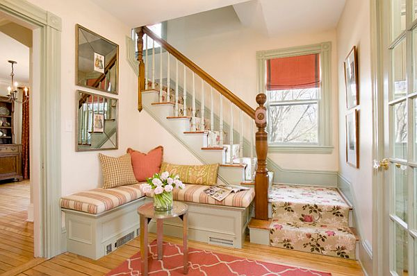 Colorful and bright foyer design