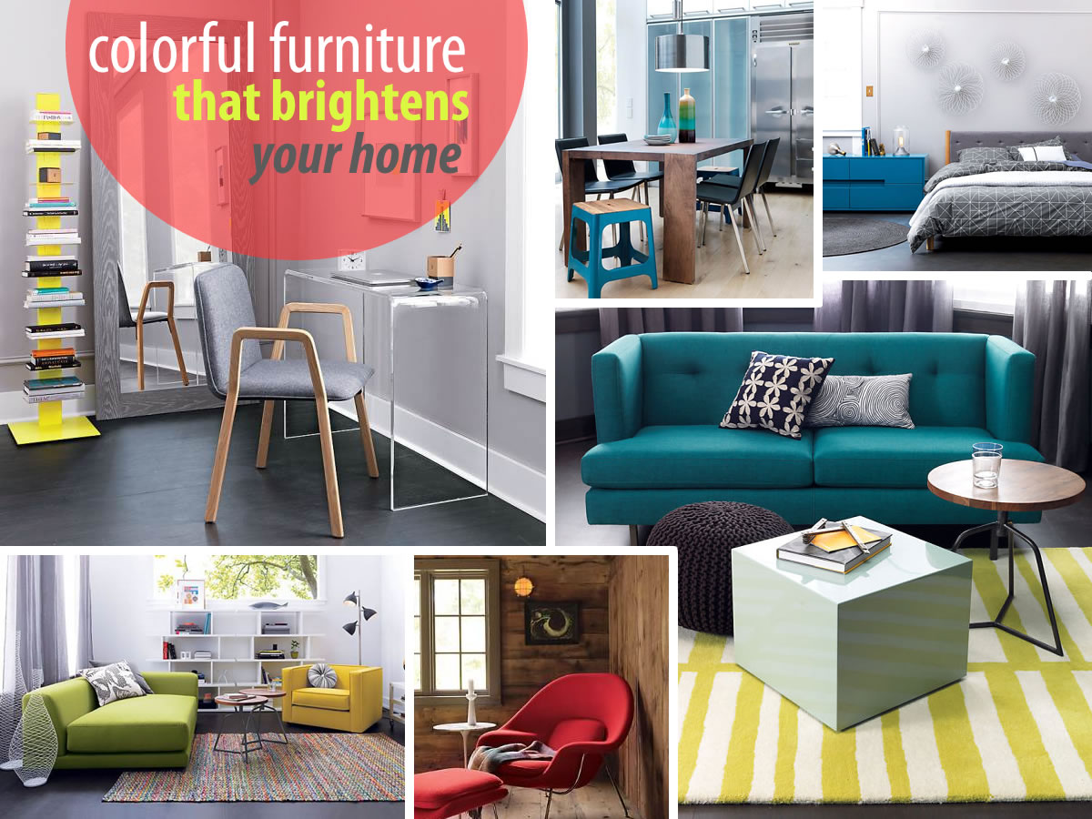 colorful bright furniture New Colorful Furniture Finds to Brighten Your Home