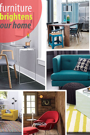 colorful furniture for bright rooms