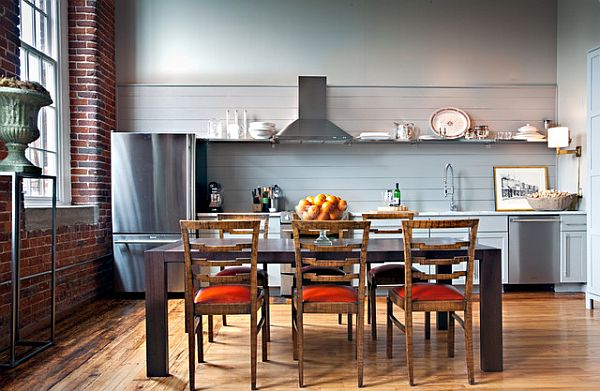 colorful renovated kitchen