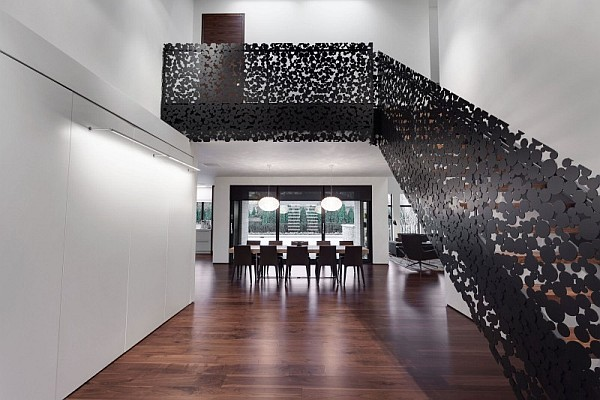 Classy contemporary residence with cool accents of grey - Classy images of cool staircase design ...