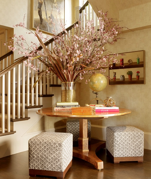 Foyer Ideas Home Decorating : How to bring spring colors into your front entry