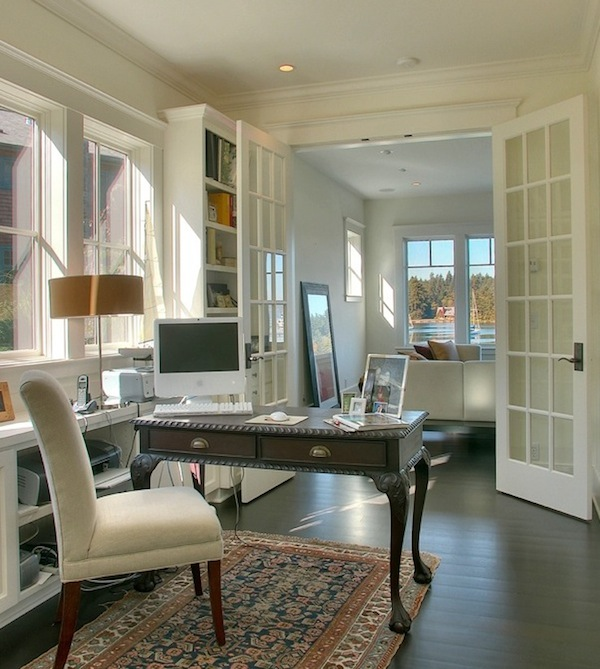 french doors home office
