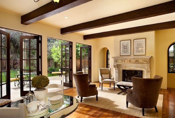 french doors living room Bringing the Outdoors In with French Door Inspiration