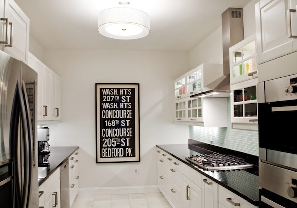 Galley Kitchen Design Ideas contemporary galley kitchen designs i like the cabinet over the top of the fridge it View In Gallery Galley Kitchen Black White