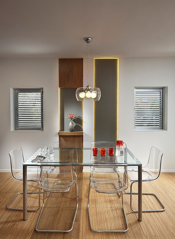 View In Gallery Glass Kitchen Dining Table