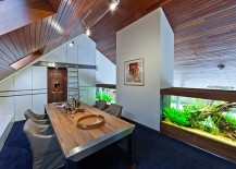 Beautiful Dutch Villa Steals The Show With Giant Aquarium and Lively Colors