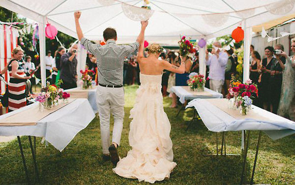 home wedding spaces