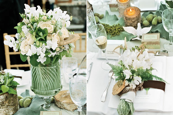 Tips for hosting a wedding at home for House table decorations