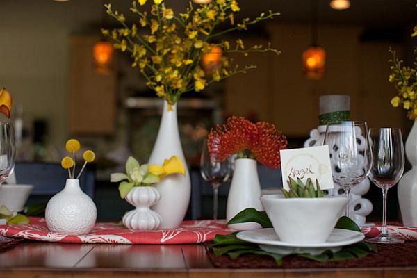 home wedding table setup