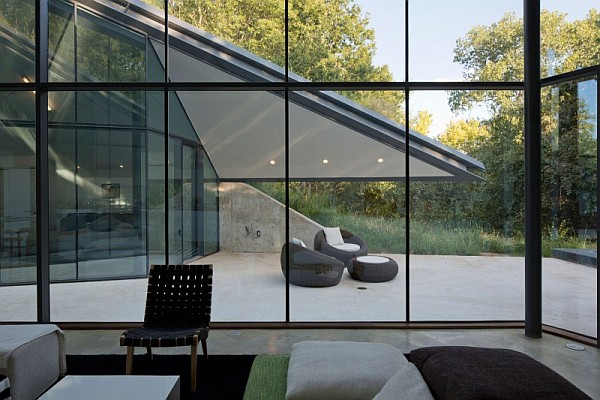 huge glass walls