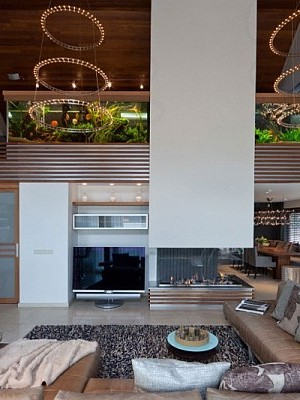 huge living room aquarium