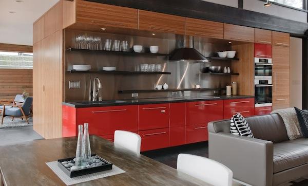 kitchen details bold colors