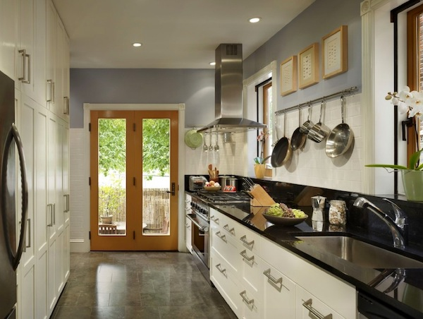 family room ceiling fan ideas - Galley Kitchen Design Ideas That Excel