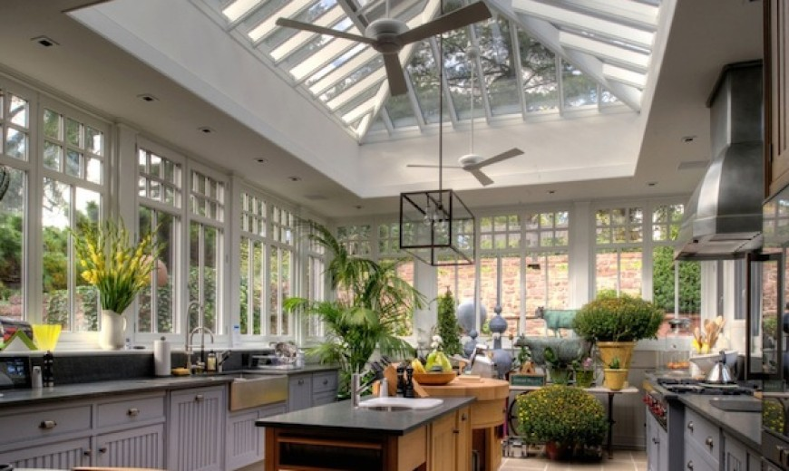 kitchen light conservatory