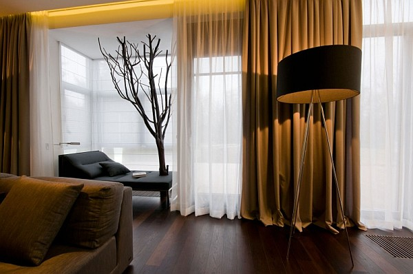long stylish drapes