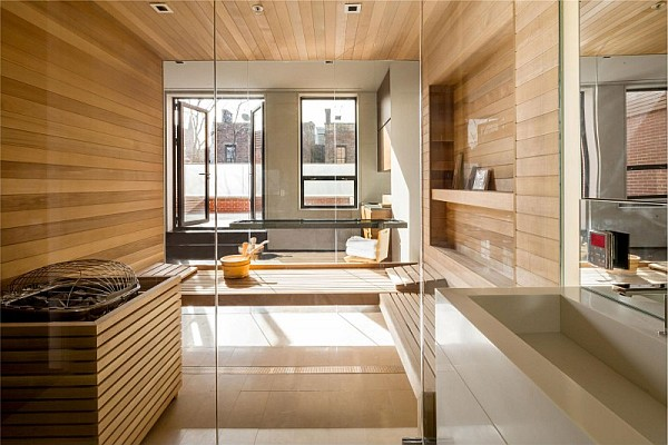 luxury NYC home - huge lavish bathroom