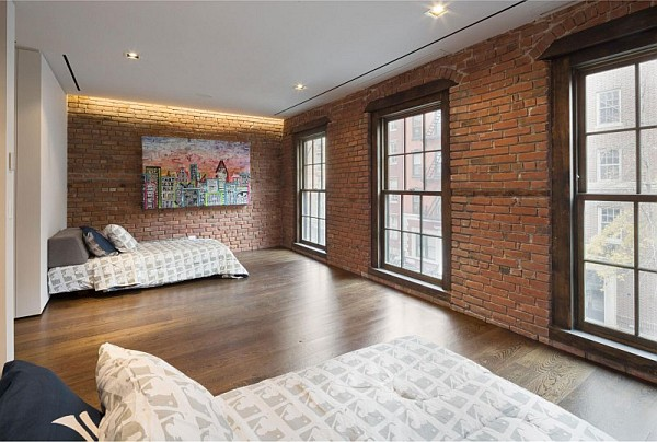 luxury NYC home - old bricks walls